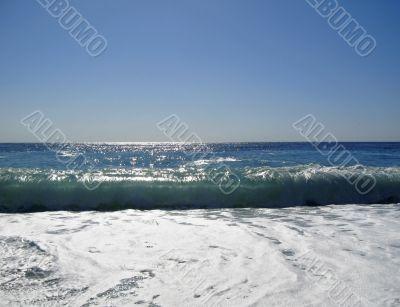 The Black Sea shoreline. The Abkhazia travel