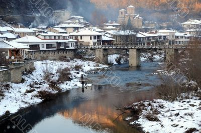 Asenov District in the Winter