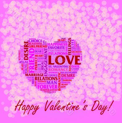 St. Valentine`s Day collage