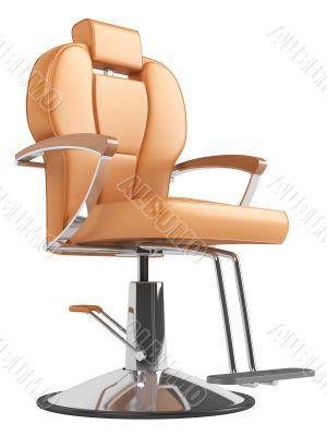 Orange hairdressing salon chair