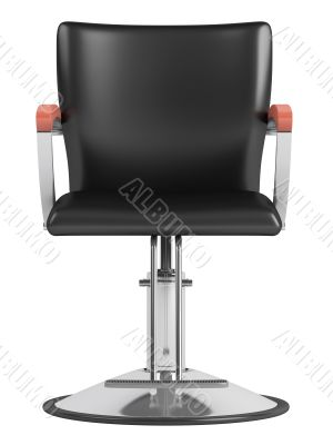 Black hairdressing salon chair