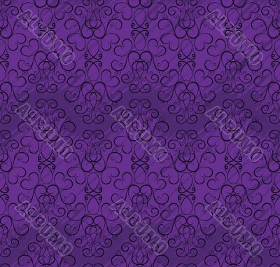 seamless wallpaper pattern in shades of purple