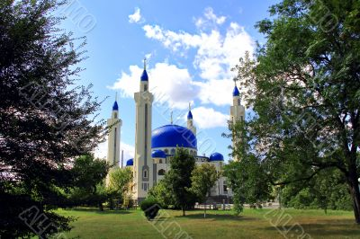 Landscape with Islam temple of the South Russia