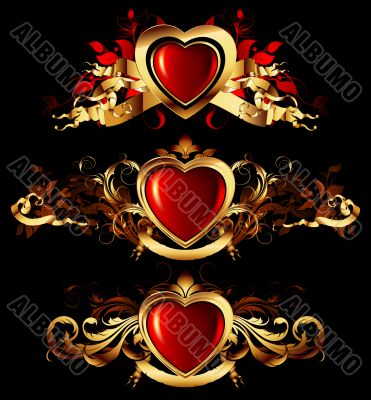 heart forms with ornate elements