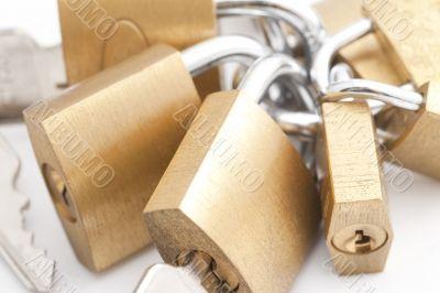 Bunch of padlocks