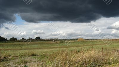 The dark sky before a thunder-storm