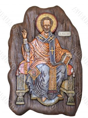 Saint Nicholas wooden icon