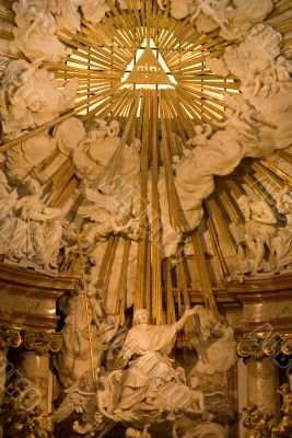 St. Charles`s Church in Vienna - The altar closeup
