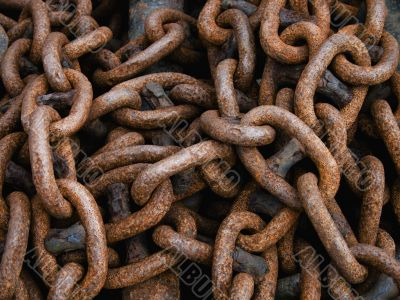 Rusty ship chain