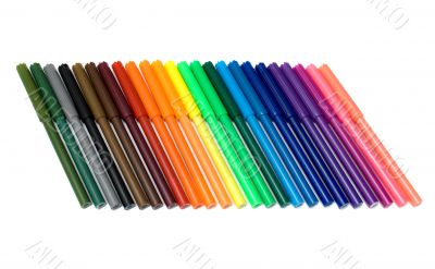 Colored felt tip pens