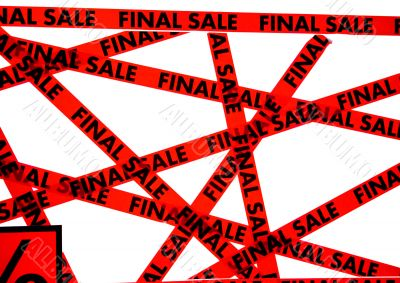 Red tape with the words FINAL SALE