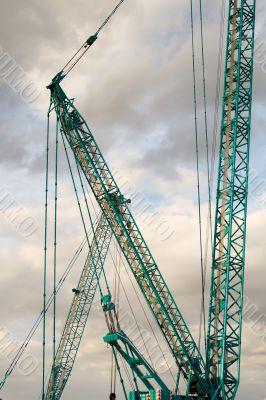 Part of a huge mobile crane