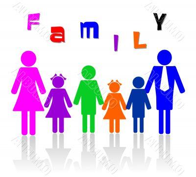 Family of six members