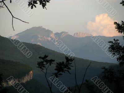 the Caucasian ridge