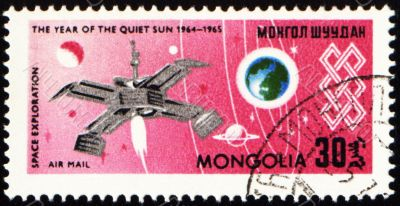 Space exploration on post stamp