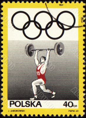 Weight kifter on post stamp