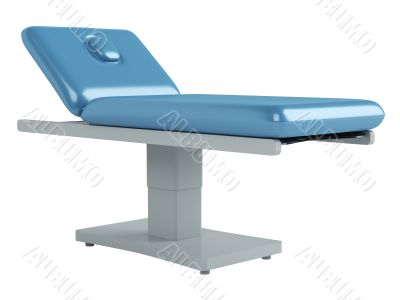 Blue massage table