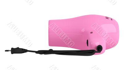 Pink hair dryer