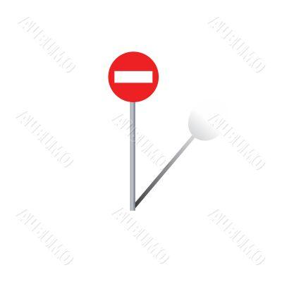 Traffic sign. Vector illustration