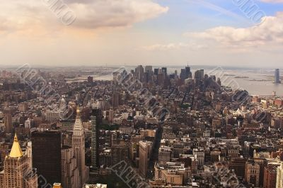 Panoramic views of Manhattan