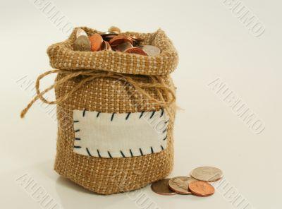 Sack full of coins