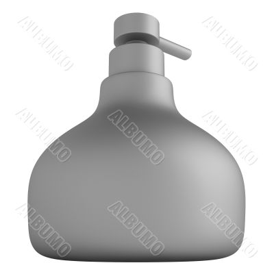 Frosted glass bottle soap