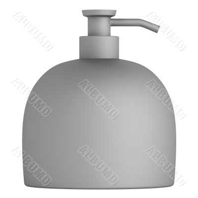 Bottle with a flat bottom frosted glass
