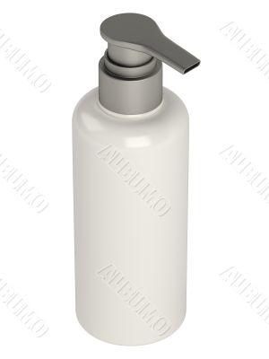 Glass bottle of soap