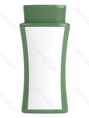 Green bottle natural shampoo
