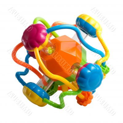 Colorful children`s plastic toy