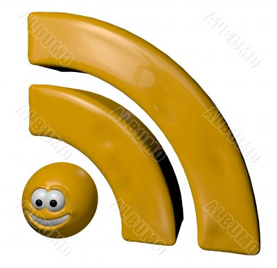 cartoon rss symbol
