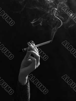 Hand with a cigarette