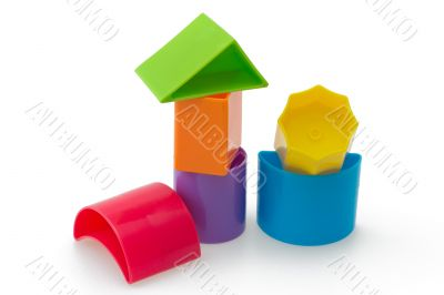 Blocks of different shapes and colors