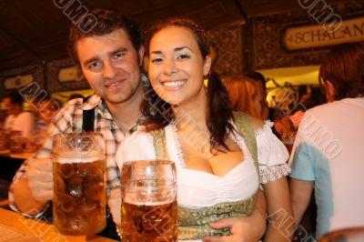 pair in beer garden