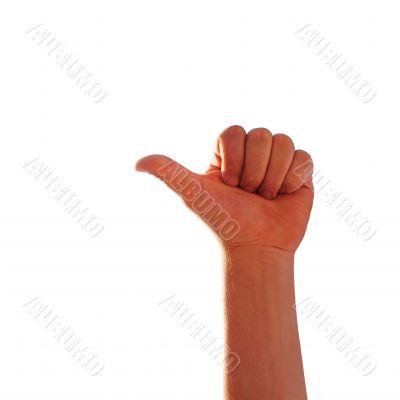 finger on the left shows na