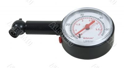 Black Pressure Gauge