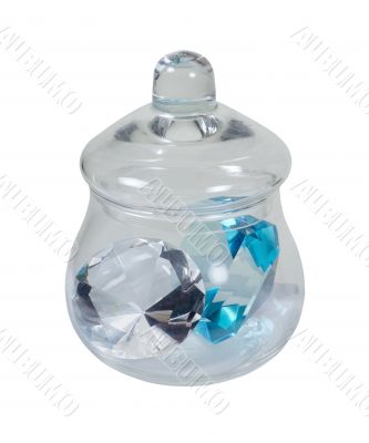 Apothecary Jar Full of Large Gems