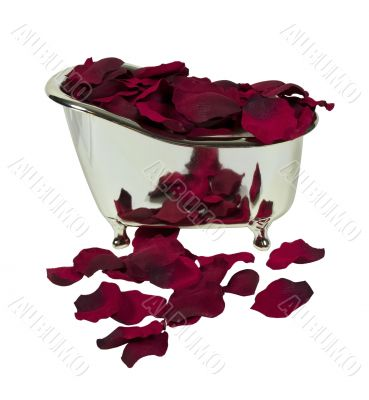 Bathtub Filled with Rose Petals