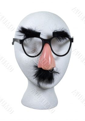 Anonymous Face with Glasses with Mustache and Eyebrows