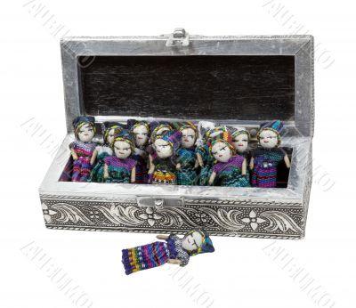 Intricate Box of Worry Dolls