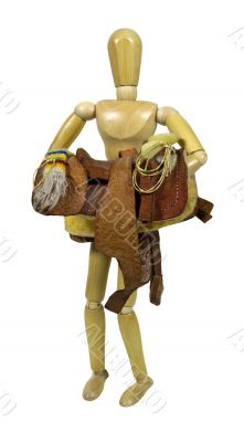Carrying Western Saddle