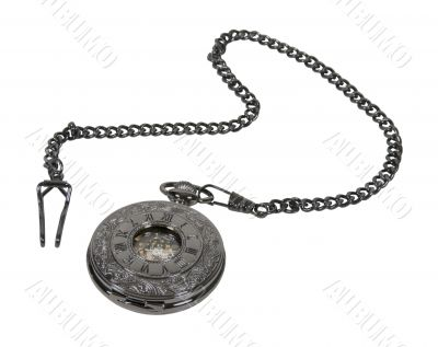 Dark Silver Pocket Watch