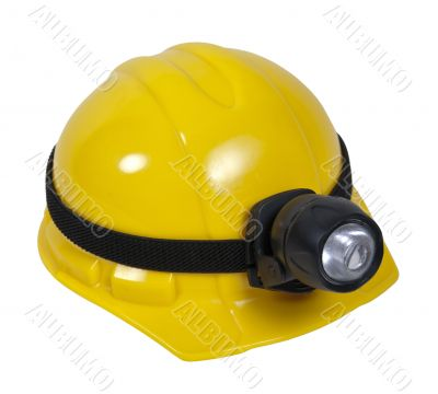 Hard Hat With Lamp