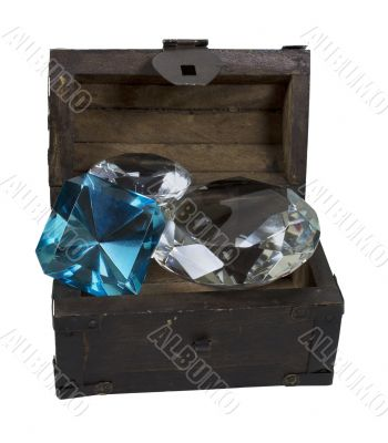 Gems in a Wooden Trunk