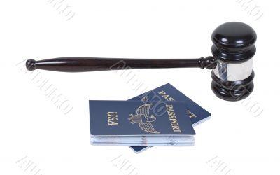Gavel and Passports