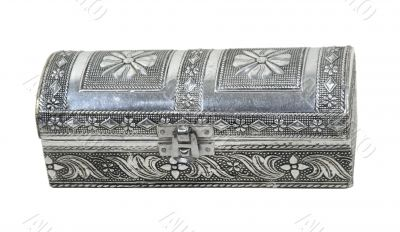 Intricate Hammered Silver Box