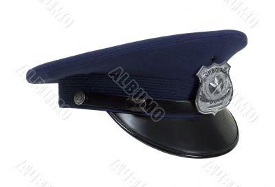 Police Cap in Profile