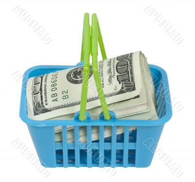 Shopping Basket Full of Money