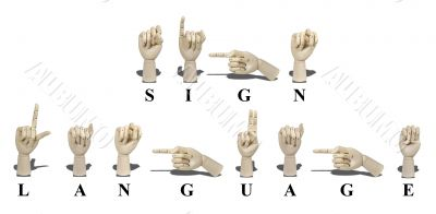 Sign Language Bulletin Board Cards  abcteach