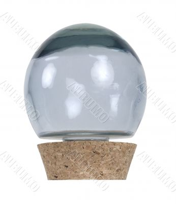 Glass Orb with Cork Stopper